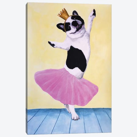 Bulldog Ballet Canvas Print #COC182} by Coco de paris Canvas Print