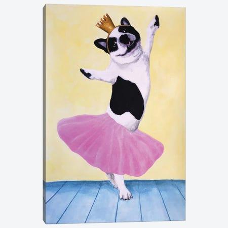 Bulldog Ballet Canvas Print #COC182} by Coco de Paris Canvas Print