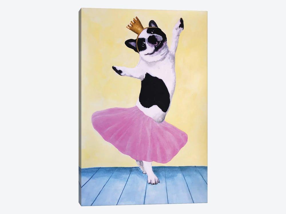 Bulldog Ballet by Coco de Paris 1-piece Canvas Art