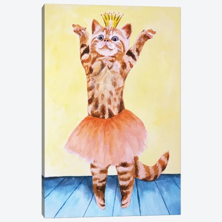 Cat Ballet Canvas Print #COC183} by Coco de Paris Art Print