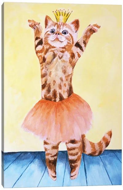 Cat Ballet Canvas Art Print