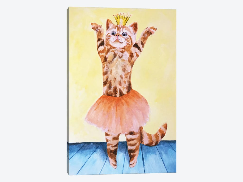 Cat Ballet by Coco de Paris 1-piece Canvas Print
