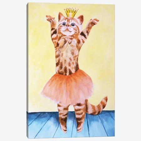 Cat Ballet Canvas Print #COC183} by Coco de Paris Art Print