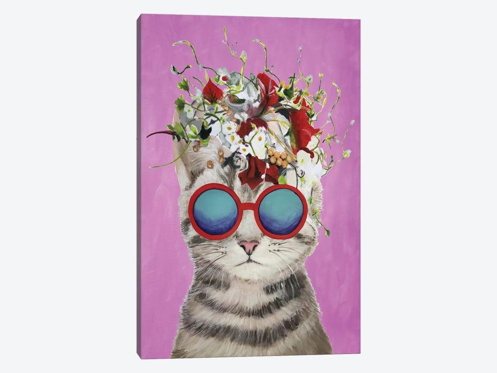 Cat Flower Power, Pink by Coco de Paris 1-piece Art Print