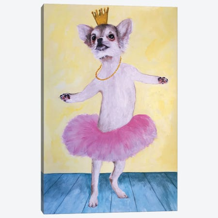 Chihuahua Ballet Canvas Print #COC189} by Coco de paris Canvas Print