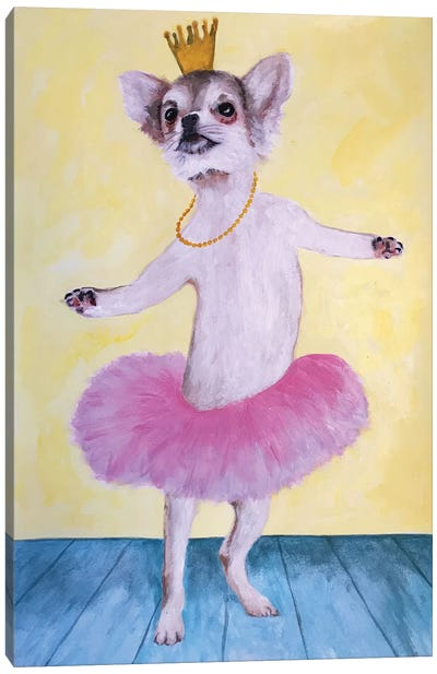 Chihuahua Ballet Canvas Art Print