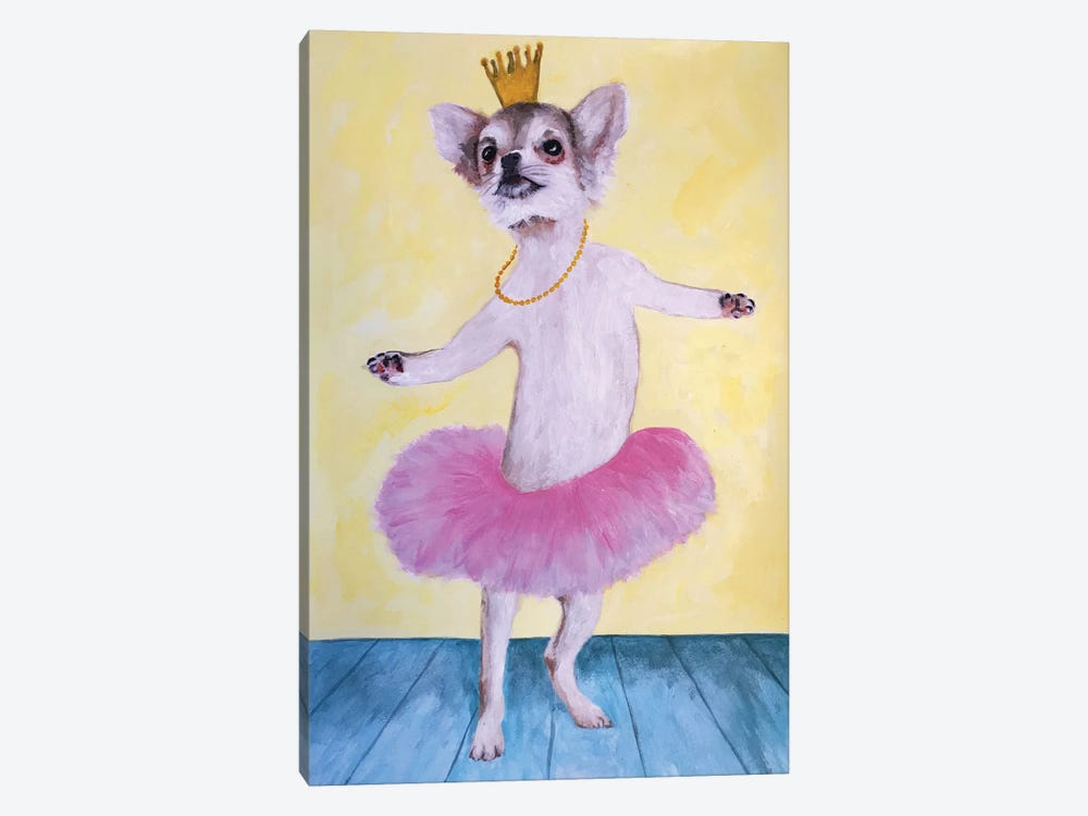 Chihuahua Ballet by Coco de Paris 1-piece Canvas Art Print