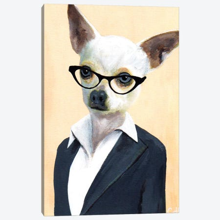 Chihuahua Lady Canvas Print #COC190} by Coco de Paris Canvas Art