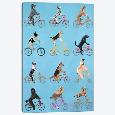 Cycling Dogs Canvas Print #COC191} by Coco de Paris Canvas Art