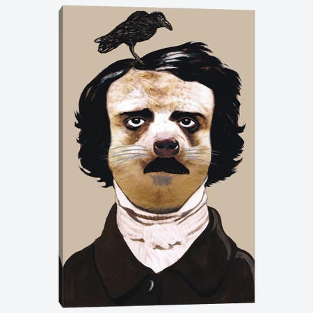 Edgar Allan Poe Canvas Print #COC195} by Coco de Paris Canvas Art Print