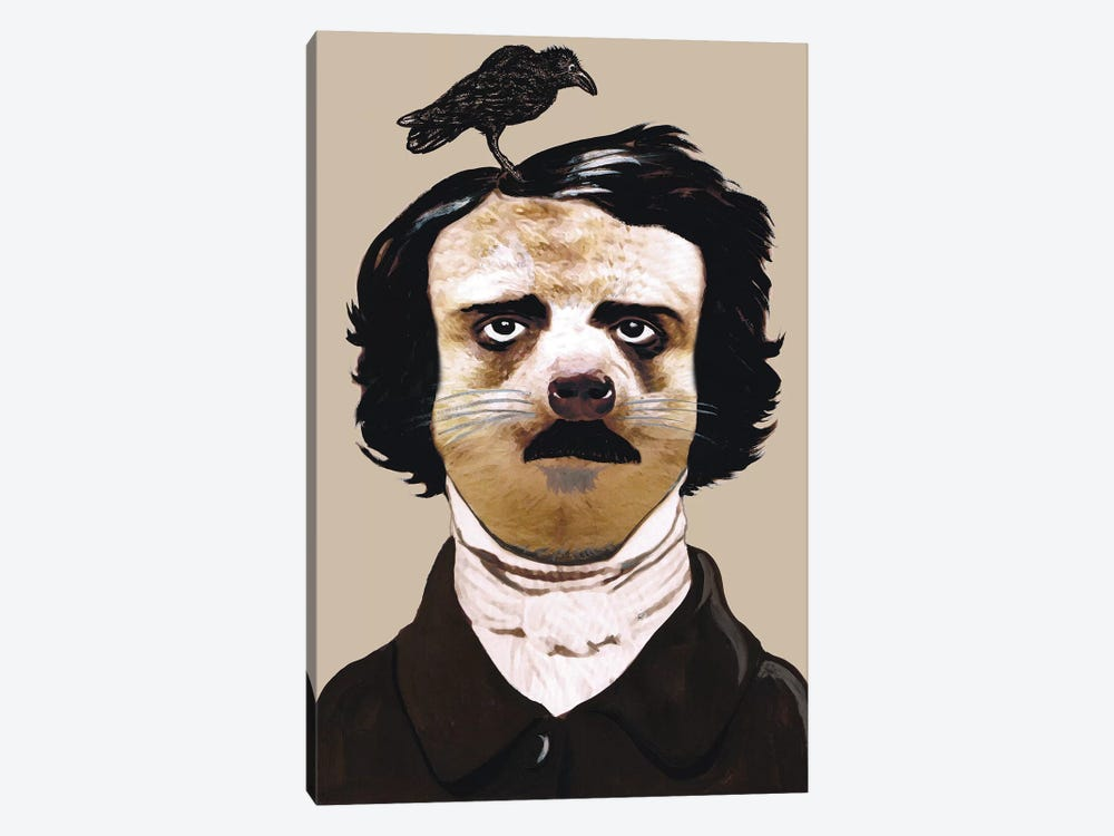 Edgar Allan Poe by Coco de Paris 1-piece Canvas Art