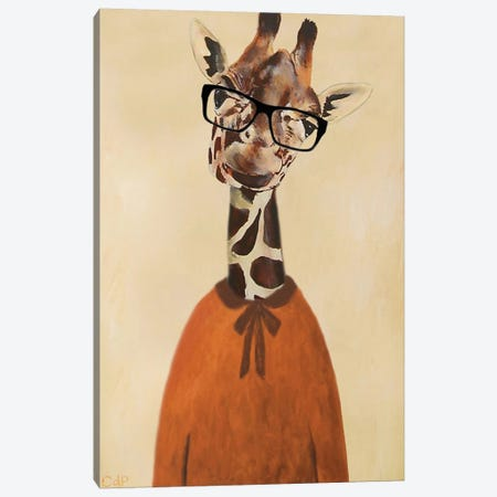 Clever Giraffe Canvas Print #COC19} by Coco de Paris Canvas Art Print