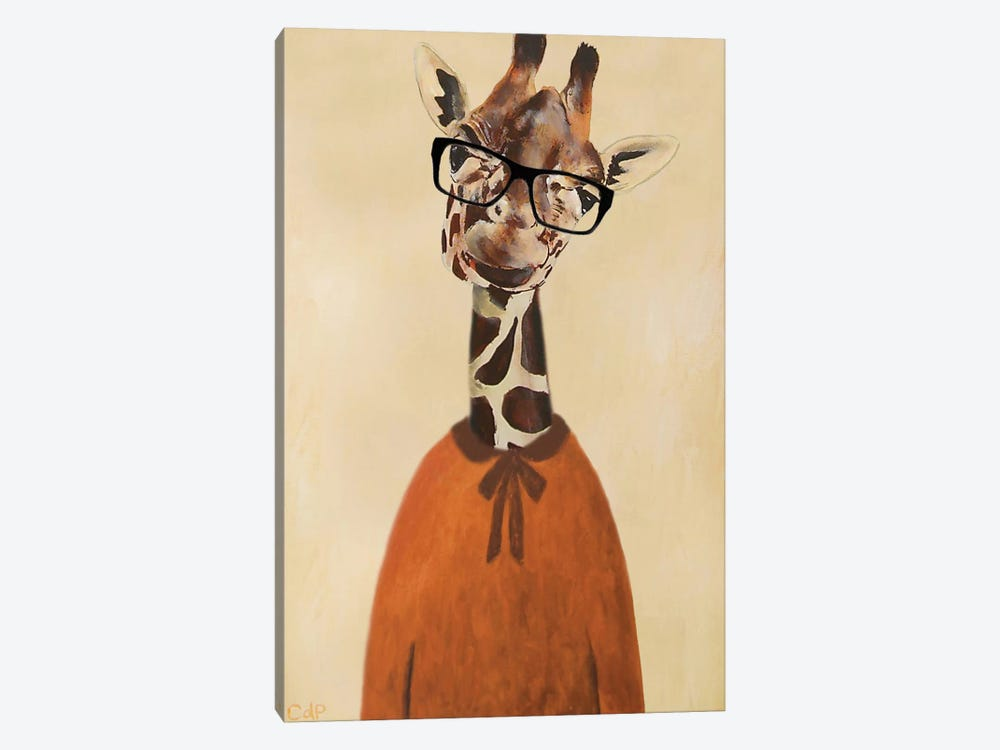 Clever Giraffe by Coco de Paris 1-piece Canvas Art