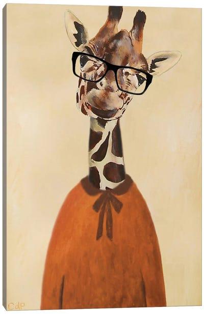 Clever Giraffe Canvas Art Print