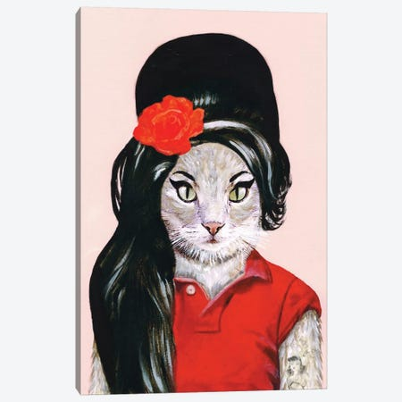 Amy Winehouse Cat Canvas Print #COC1} by Coco de paris Art Print