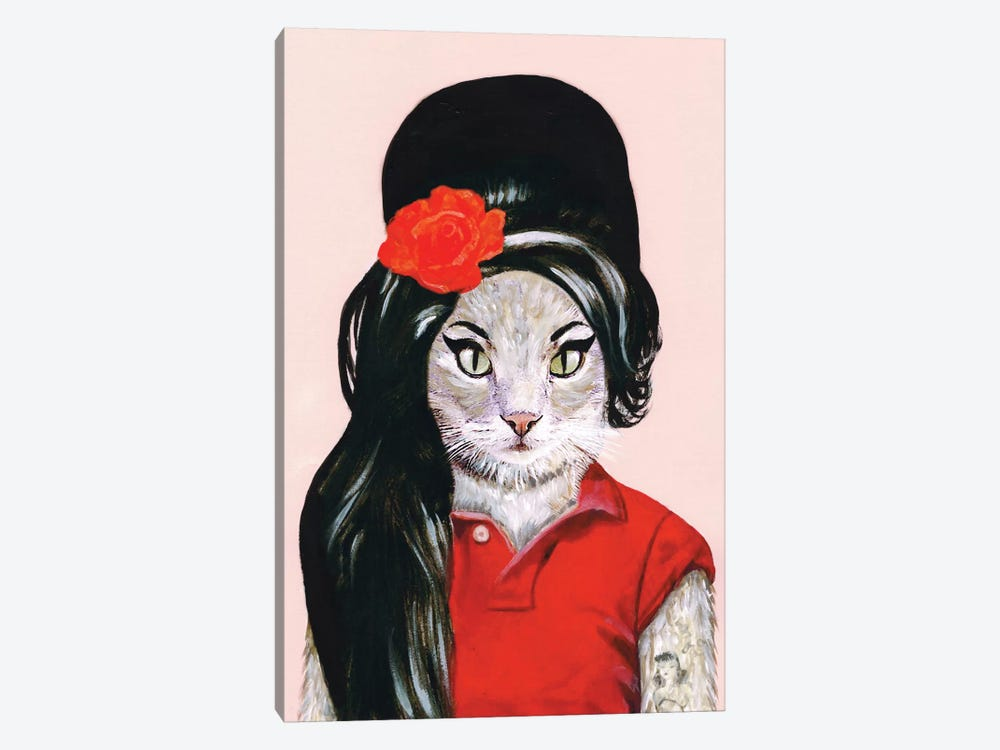 Amy Winehouse Cat by Coco de paris 1-piece Canvas Art Print