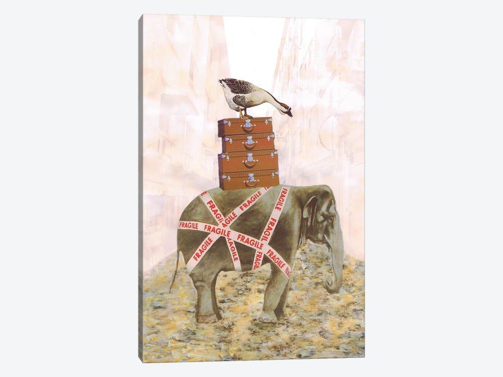 Elephant With Goose by Coco de Paris 1-piece Canvas Artwork