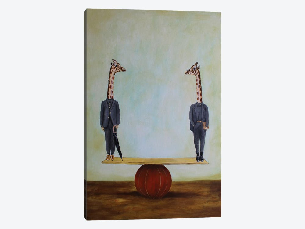 Giraffes In Balance by Coco de Paris 1-piece Canvas Wall Art
