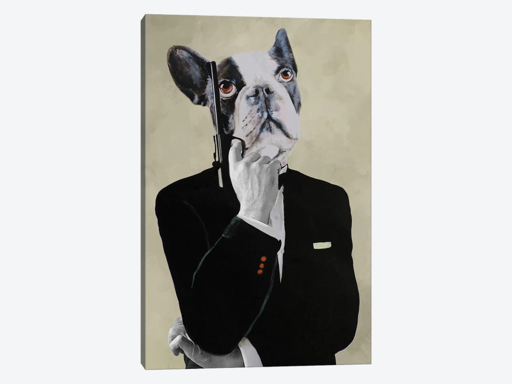 James Bond Bulldog by Coco de Paris 1-piece Canvas Print