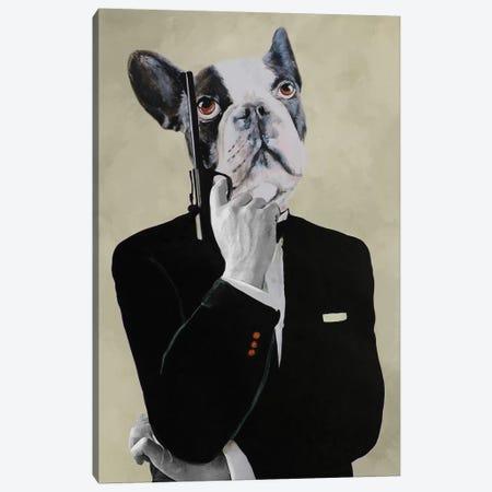 James Bond Bulldog Canvas Print #COC207} by Coco de Paris Canvas Print