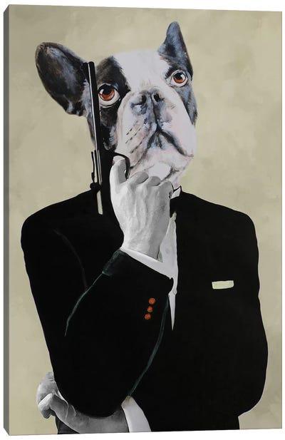 James Bond Bulldog Canvas Art Print