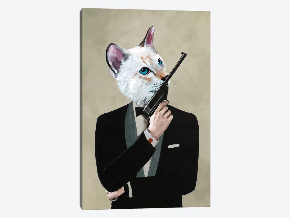 James Bond Cat by Coco de paris 1-piece Canvas Art