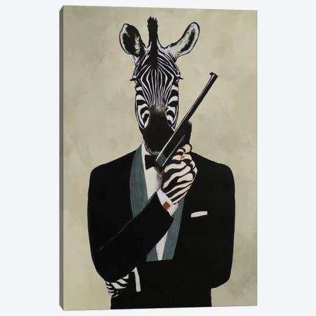 James Bond Zebra III Canvas Print #COC210} by Coco de paris Canvas Print