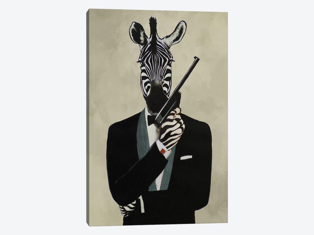 James Bond Zebra III by Coco de Paris 1-piece Canvas Print
