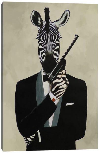 James Bond Zebra III Canvas Art Print