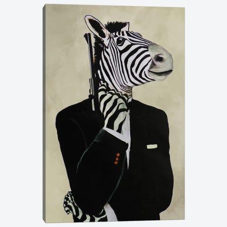 James Bond Zebra IV Canvas Print #COC211} by Coco de Paris Art Print