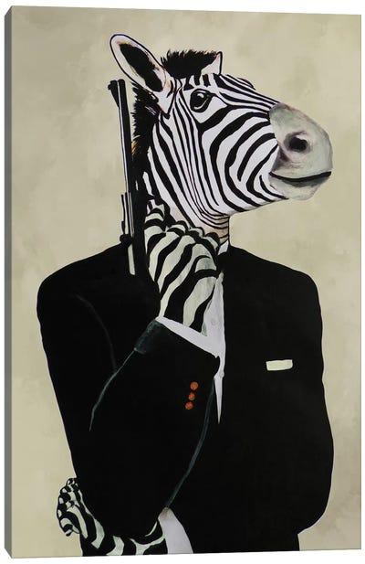 James Bond Zebra IV Canvas Art Print
