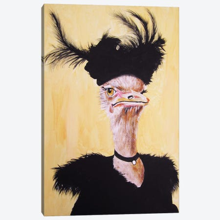 Ostrich Jet Set Canvas Print #COC215} by Coco de Paris Canvas Wall Art