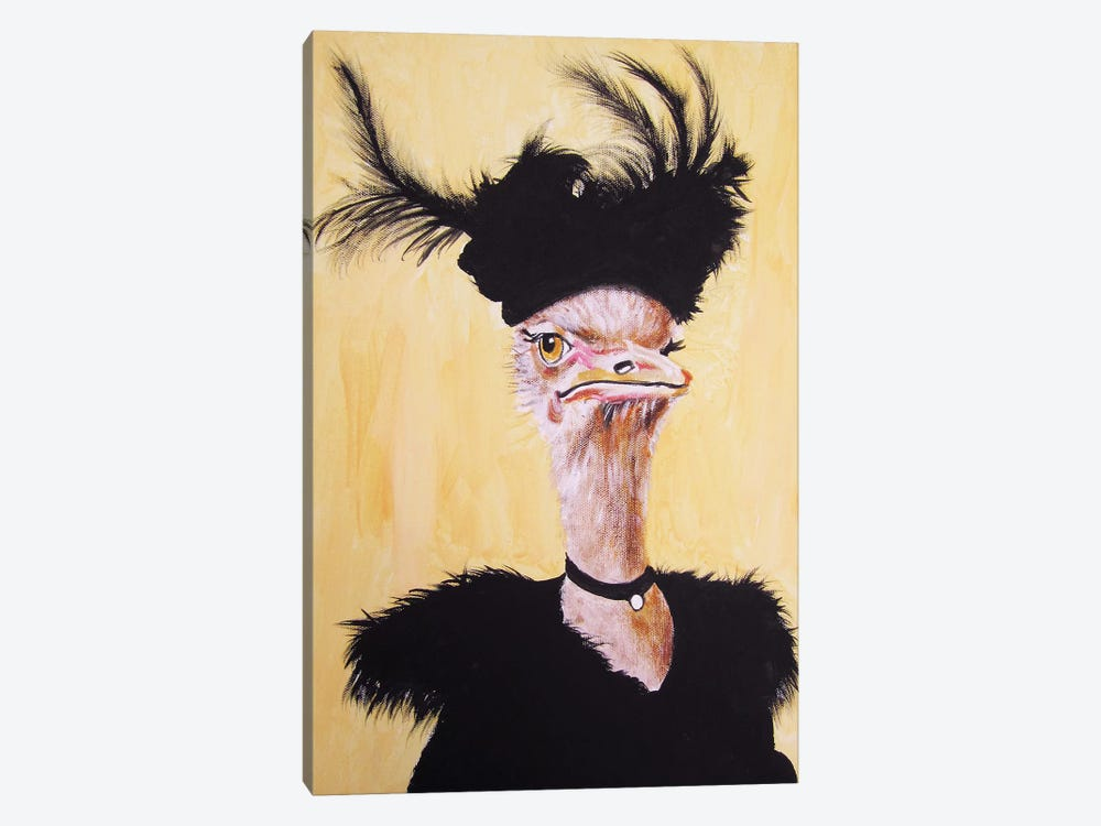 Ostrich Jet Set by Coco de Paris 1-piece Canvas Artwork