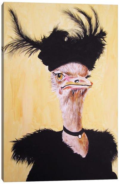 Ostrich Jet Set Canvas Art Print