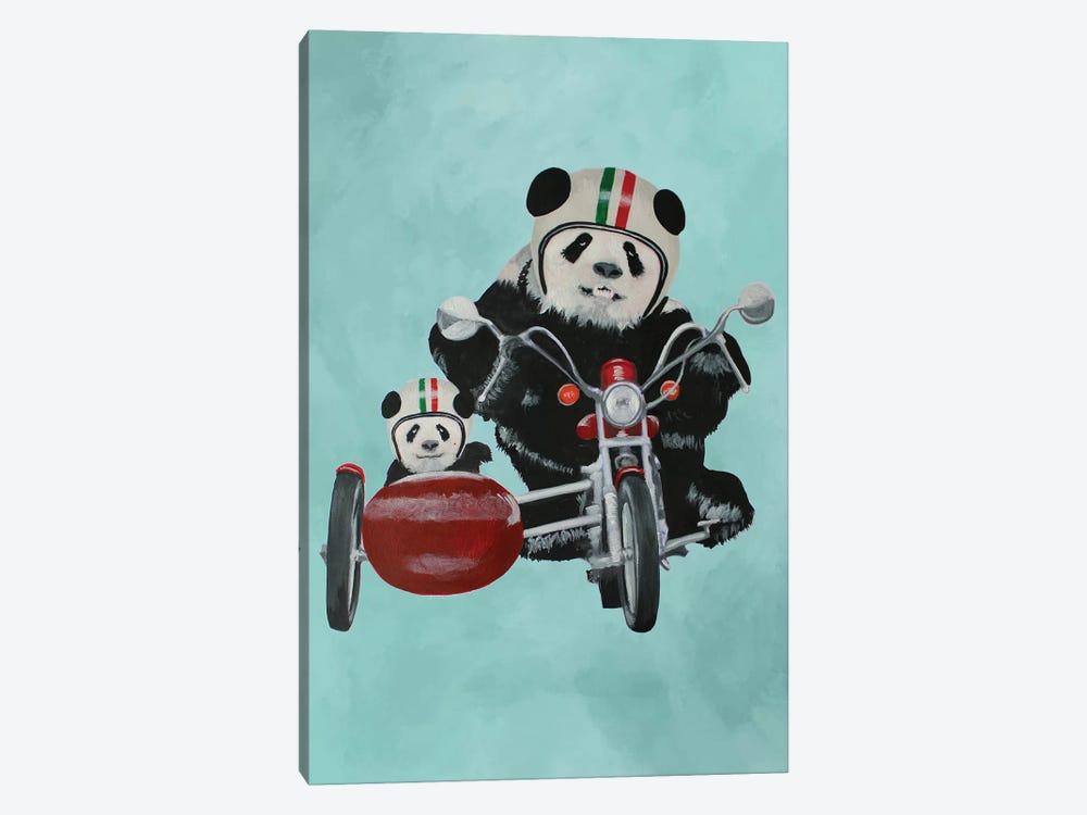 Pandas On Motorbike by Coco de Paris 1-piece Canvas Artwork