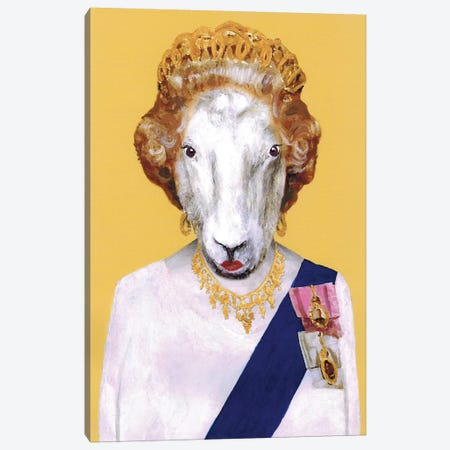 Queen Elisabeth Canvas Print #COC224} by Coco de paris Art Print