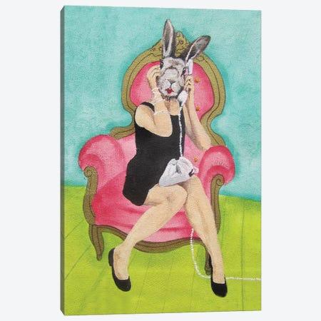 Rabbit Calling Canvas Print #COC225} by Coco de Paris Canvas Print