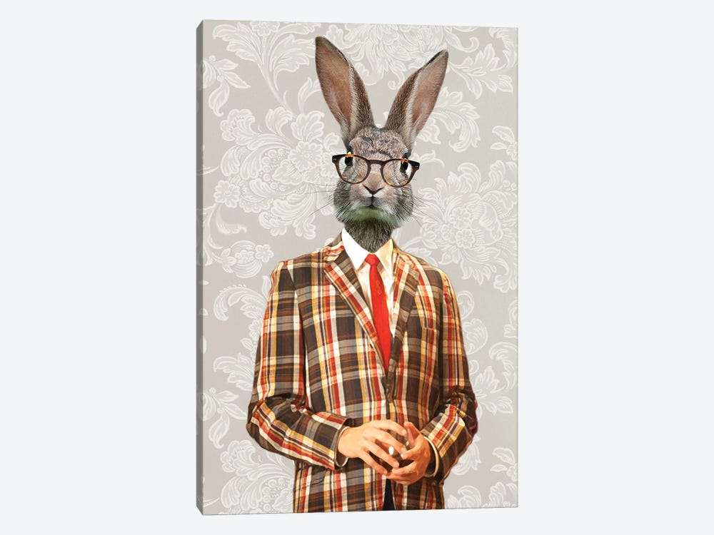 Rabbit Vintage Man II by Coco de Paris 1-piece Canvas Art Print