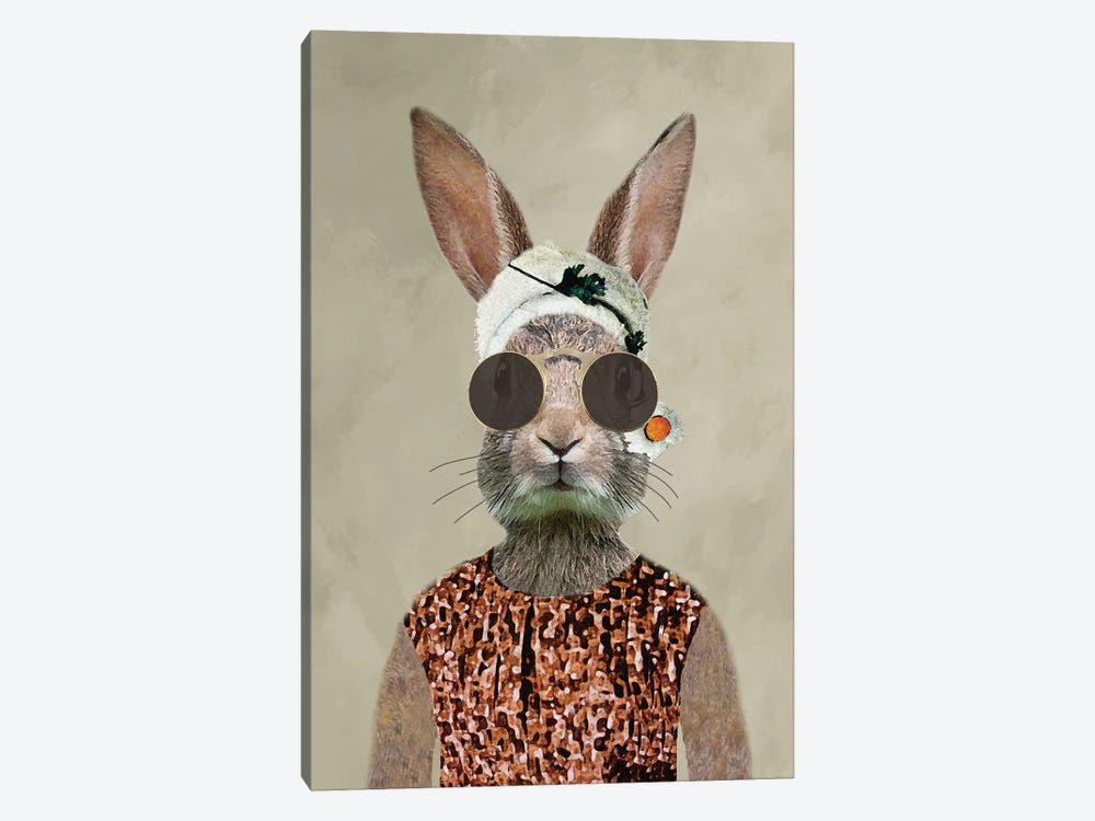 Rabbit Woman Vintage by Coco de Paris 1-piece Art Print
