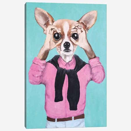 Chihuahua Is Watching You Canvas Print #COC239} by Coco de Paris Canvas Print