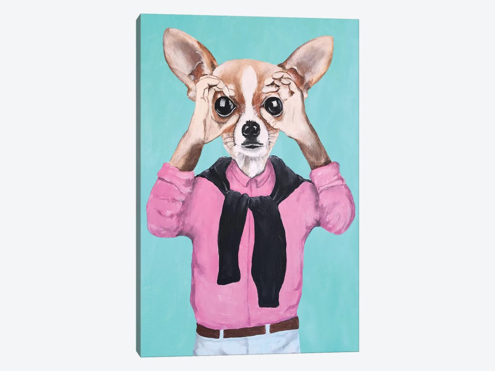 Chihuahua Is Watching You by Coco de Paris 1-piece Canvas Artwork