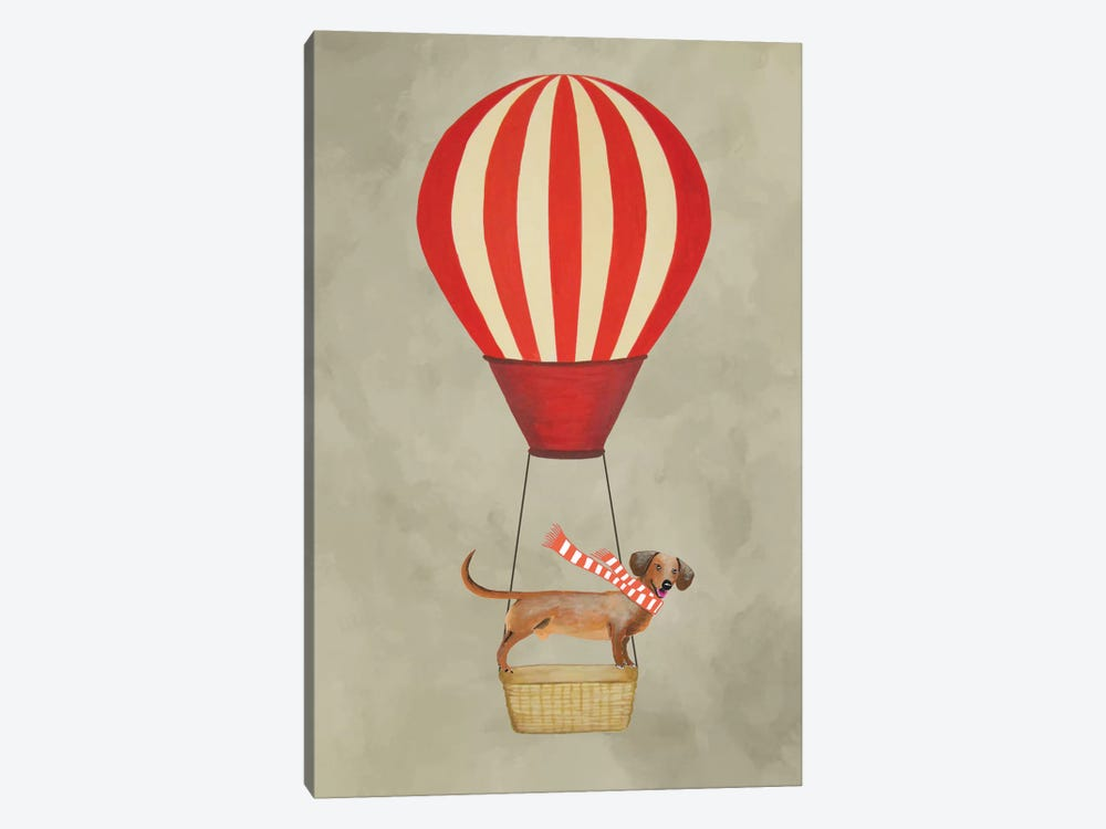 Dachshund With Air Balloon by Coco de Paris 1-piece Canvas Art Print