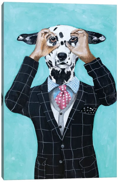 Dalmatian Is Watching You Canvas Art Print