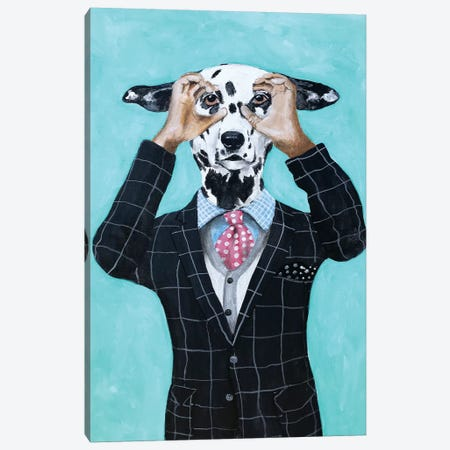 Dalmatian Is Watching You Canvas Print #COC241} by Coco de Paris Canvas Wall Art