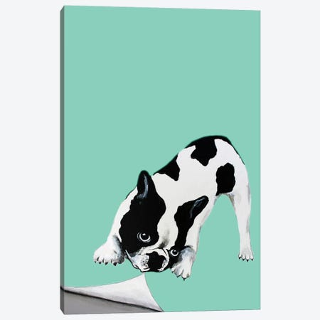 Bulldog Turning Page Canvas Print #COC246} by Coco de Paris Canvas Art Print
