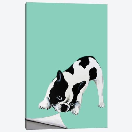 Bulldog Turning Page Canvas Print #COC246} by Coco de Paris Canvas Art Print