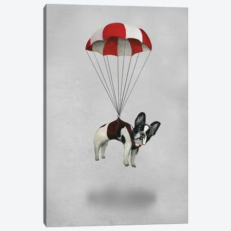 Bulldog With Parachute Canvas Print #COC247} by Coco de Paris Art Print
