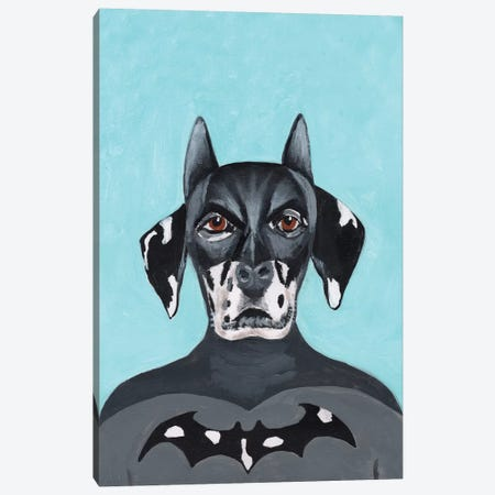 Dalmatian Batman Canvas Print #COC248} by Coco de Paris Canvas Art