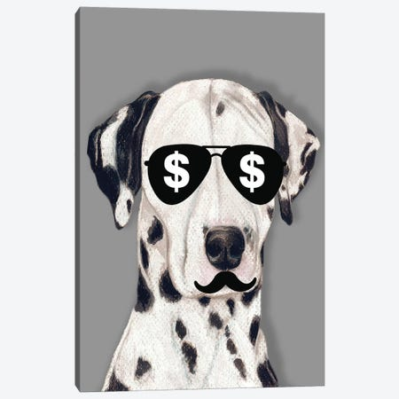 Dalmatian Dollars Canvas Print #COC249} by Coco de Paris Canvas Artwork