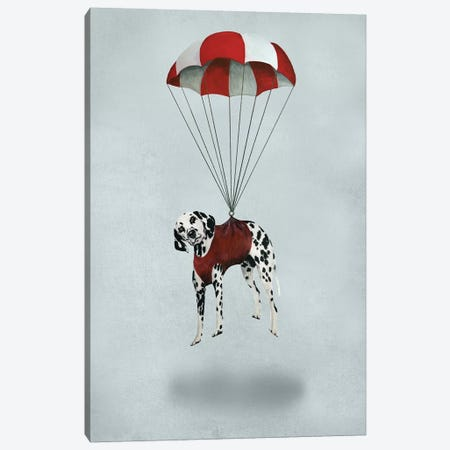 Dalmatian Parachute Canvas Print #COC250} by Coco de Paris Art Print